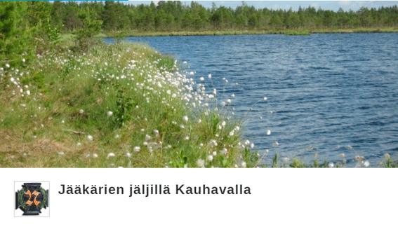 Järven kuva, linkki Jääkärien jäljillä -citynomadireittiin