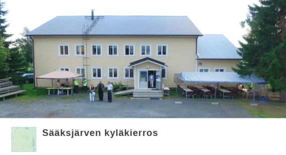 Sääksjärven nuorisoseurantalon kuva, linkki citynomadireittiin
