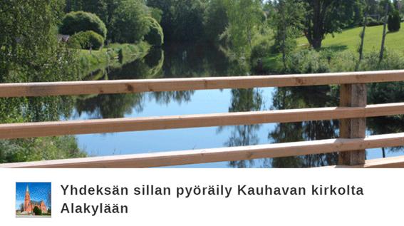 Sillan kuva, linkki Citynomadi-reittiin siltapyöräilystä Kauhavalla
