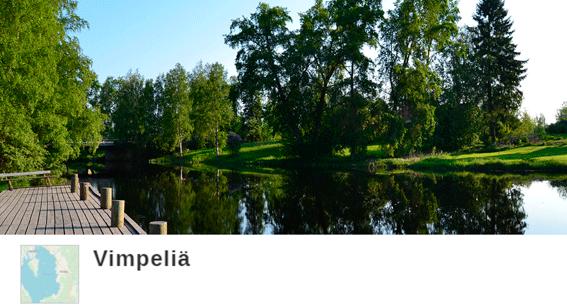 Savonjoen kuva, linkki citynomadireittiin Vimpelistä