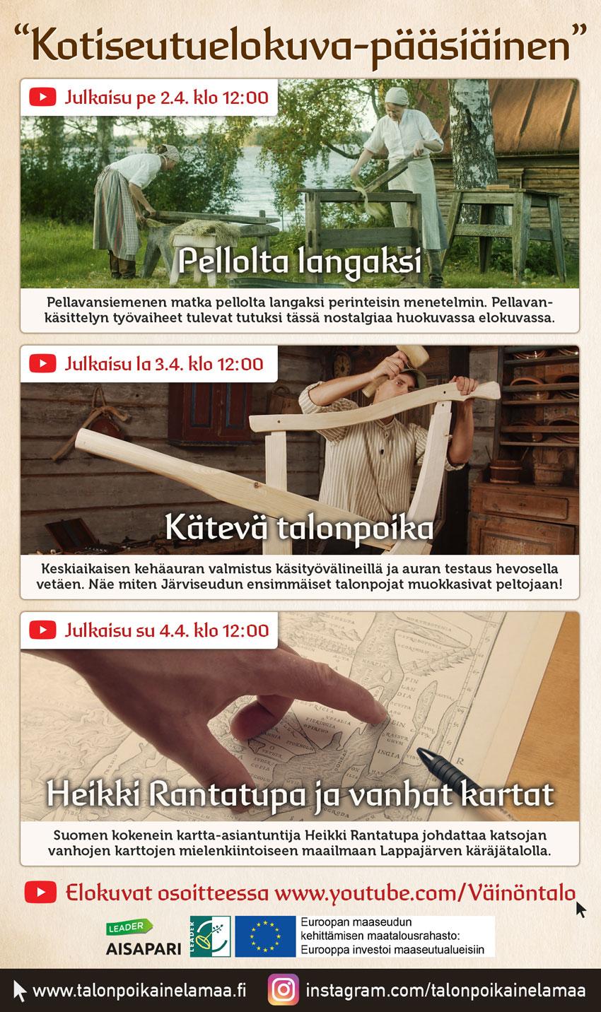 Kuvassa mainos pääsiäsenä julkaistavista elokuvista